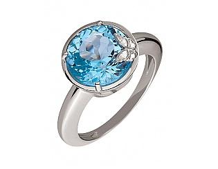 Золотое кольцо с топазом 2к-250 фотография