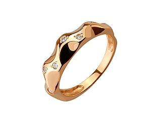 Золота каблучка з фіанітами 01-17209550 фотографія