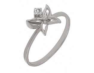Золотое кольцо с бриллиантом 2к-239 фотография