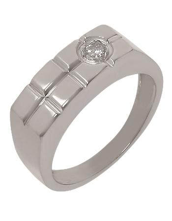 Золотой перстень 585 пробы с бриллиантом (15-000069755)