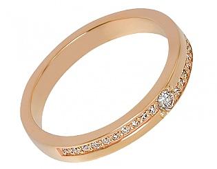 Золота каблучка з діамантами 1к-212 фотографія