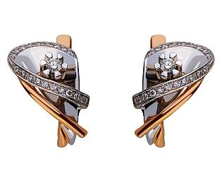 Золоті сережки з діамантами 01-17578951 фотографія