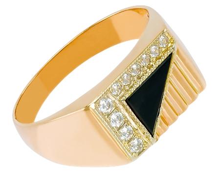 Золотой перстень 585 пробы с цирконами :: золотое ювелирное украшение. золотой перстень