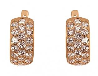 Золоті сережки з фіанітами 1-с-574 фотографія