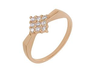 Золотое кольцо с фианитом 1б_к-012 фотография