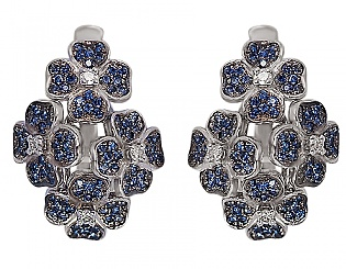Золоті сережки з сапфірами і діамантами 11б_с-027 фотографія