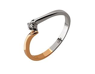 Золота каблучка з діамантом 01-17479252 фотографія