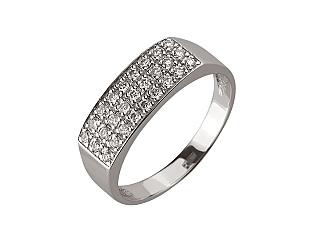 Золота каблучка з діамантами 01-17604152 фотографія