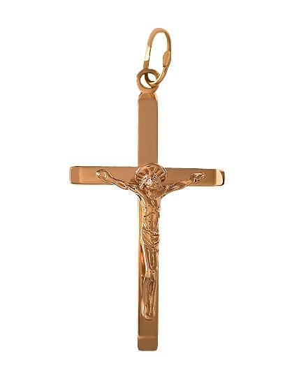 золотой крестик для ребенка цена 585