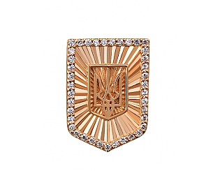 Золотая брошь с циркониями 1знч-001 фотография