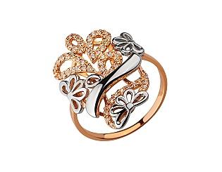 Золотое кольцо с цирконием куб. 01-17599253 фотография