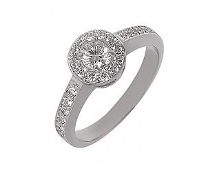 Золотое кольцо с бриллиантами 2б_к-002 фотография