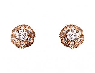 Золоті сережки з цирконіями 1б_с-068 фотографія
