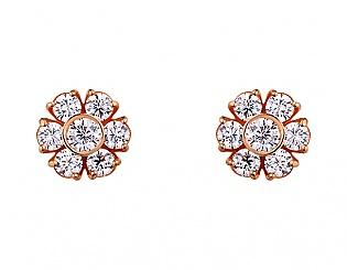 Золоті сережки з фіанітами і цирконіями 1б_с-092 фотографія
