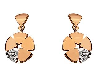 Золоті сережки з фіанітами 8б_с-116 фотографія