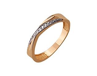 Золота каблучка з фіанітами 01-17290154 фотографія