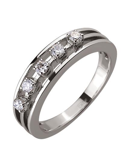 Золотое  кольцо с бриллиантом 01-17578954 фотография 1