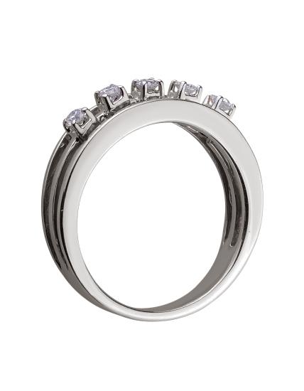 Золотое  кольцо с бриллиантом 01-17578954 фотография 2