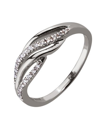 Золотое  кольцо с бриллиантом 01-17586554 фотография 1