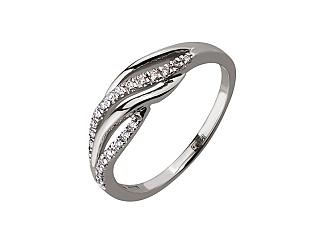 Золота каблучка з діамантом 01-17586554 фотографія