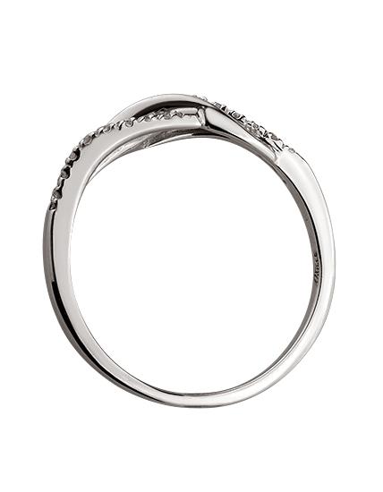Золотое  кольцо с бриллиантом 01-17586554 фотография 2
