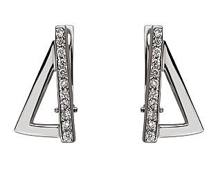 Золоті сережки з діамантом 01-17668654 фотографія