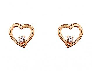 Золоті сережки з діамантом 1б_с-087 фотографія