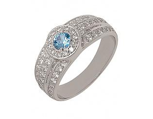 Золотое кольцо с фианитами 2-к-1123 фотография