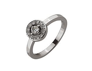 Золота каблучка з діамантами 01-17548055 фотографія