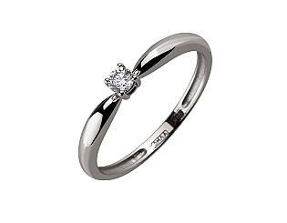 Золотое кольцо с бриллиантом 01-17648355 фотография