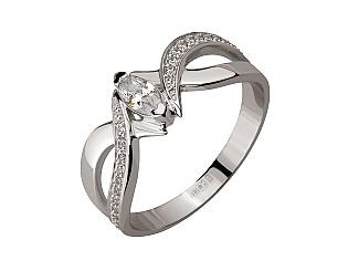 Золотое кольцо с фианитами 2б_к-155 фотография