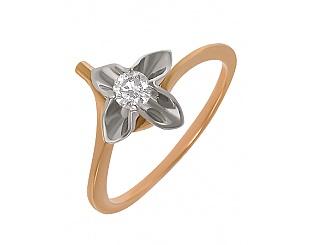 Золотое кольцо с бриллиантом 4б_к-022 фотография