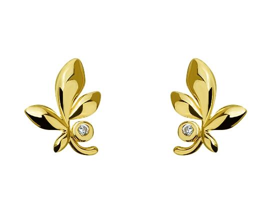 Золоті сережки з фіанітами 3-с-1175 фотографія