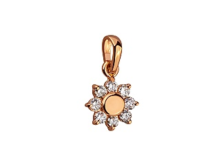Золотий кулон з діамантами 1п-047 фотографія