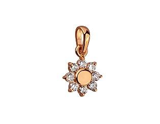 Золотой кулон с бриллиантами 1п-047 фотография