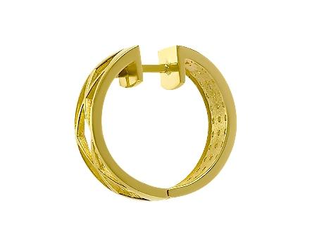 Золоті сережки з цирконіями 3б_с-021 фотографія