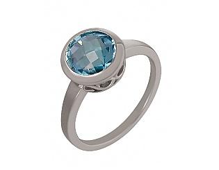 Золотое кольцо с топазом 2к-273 фотография