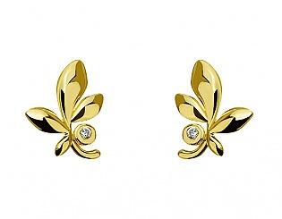 Золоті сережки з фіанітом 3с-172 фотографія