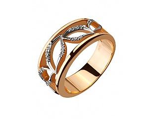 Золотое кольцо с фианитами 8б_к-075 фотография