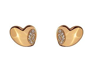 Золоті сережки з цирконієм куб. 01-17642557 фотографія