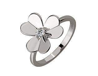 Золотое кольцо с бриллиантом 2б_к-206 фотография