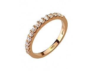 Золотое кольцо с фианитом 1б_к-134 фотография