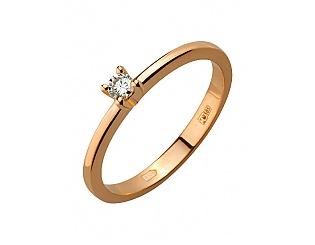 Золота каблучка з діамантом 1б_к-138 фотографія