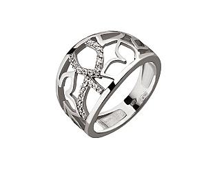 Золотое кольцо с циркониями 2б_к-137 фотография
