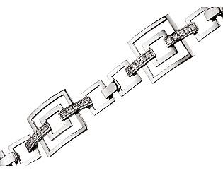 Золотой браслет с фианитом 2б-017 фотография