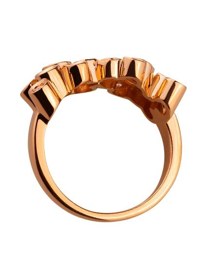 Золота каблучка з цирконієм куб. 01-17593058 фотографія 2