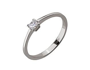 Золотое кольцо с бриллиантом 01-17648358 фотография