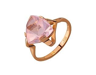 Золотое кольцо с кварцем 01-17676158 фотография