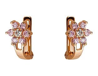 Золоті сережки з фіанітами 1б_с-052 фотографія