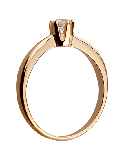 Золота каблучка з діамантами 1к-030 фотографія